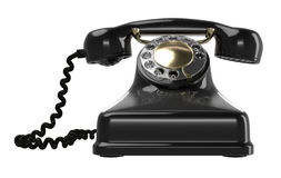Vintage black telephone Stock Photos