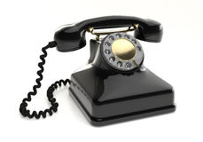 Vintage black telephone Royalty Free Stock Photo