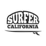 Vintage black vector surf emblem, logo Royalty Free Stock Photos