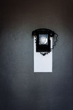 Vintage black wall phone Royalty Free Stock Photography