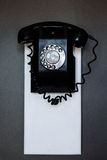 Vintage black wall phone Royalty Free Stock Image