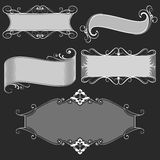 Vintage black and white banners Royalty Free Stock Images