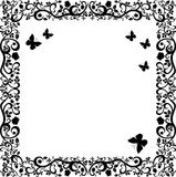 Vintage black white beautiful illustration of floral ornament Royalty Free Stock Photos