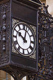 Vintage Black and White Clock Stock Photography