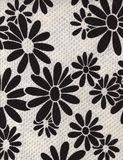 Vintage Black and White Daisy Fabric Background Royalty Free Stock Image