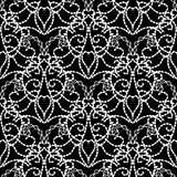 Vintage black and white Damask vector seamless pattern. Abstracr floral ornamental monochrome background. Doodle hand drawn interesting ornaments with Royalty Free Illustration