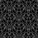 Vintage black and white Damask vector seamless pattern. Abstracr floral ornamental monochrome background. Doodle hand drawn interesting decorative ornaments Stock Illustration