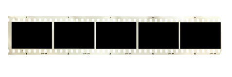 Vintage black and white filmstrip isolated Royalty Free Stock Photography