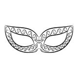 Vintage black and white mask on white background Royalty Free Stock Images