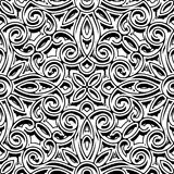 Vintage black and white ornament, seamless pattern Stock Image