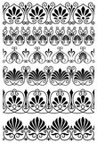 Vintage black and white ornamental borders Royalty Free Stock Images