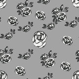 Vintage black and white rose pattern Royalty Free Stock Photo
