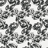 Vintage black and white rose pattern Royalty Free Stock Photos