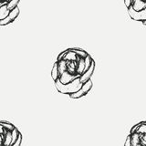 Vintage black and white rose pattern Stock Image