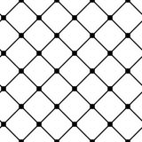 Vintage black and white seamless pattern with simple geometric shapes. Check background made of line greed. Endless vector texture for wallpaper, wrapping paper Royalty Free Stock Photos