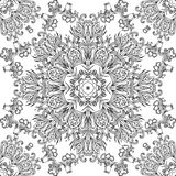 Vintage black and white seamless texture with a floral pattern Royalty Free Stock Image