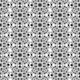 Vintage black and white wallpaper. Vintage black and white seamless wallpaper Royalty Free Stock Photography