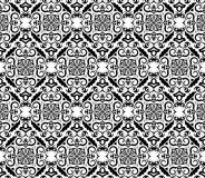 Vintage black and white wallpaper Stock Image