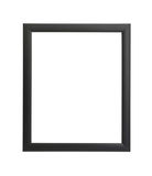 Vintage black wooden picture frame isolated Stock Photos