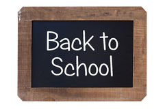 Vintage blackboard back to school with wooden frame Royalty Free Stock Photography