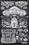 Vintage Blackboard Banners and Labels Royalty Free Stock Image