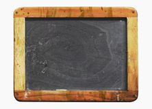 Vintage blackboard grungy,copy space. Vintage school blackboard, with paint splatters , worn and grungy, free copy space Royalty Free Stock Image
