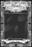 Vintage Blackboard for Restaurant Menu Stock Images