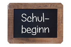 Vintage blackboard Shul-begin in german Royalty Free Stock Images