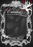 Vintage Blackboard for Valentine �s Menu Stock Photo