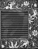 Vintage Blackboard for Valentine Menu Royalty Free Stock Photography