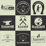 Vintage blacksmith labels and design elements Royalty Free Stock Photo