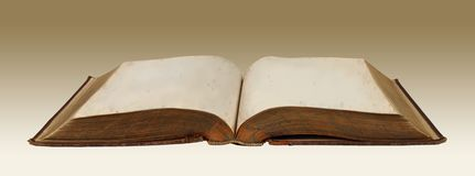 Vintage Blank Book Stock Image
