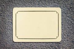 Vintage blank card on asphalt texture Royalty Free Stock Images