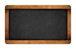 Vintage blank chalkboard slate. Isolated on white background Stock Photos