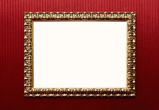 Vintage blank frame with clipping path Stock Image