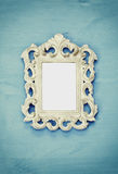 Vintage blank frame. Ready for photography montage Stock Photos