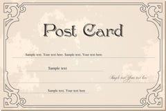 Vintage blank grunge postcard. Vector. Vintage blank antique postcard. Vector illustration art Stock Photos