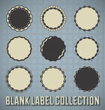 Vintage Blank Label Collection. Set of blank labels seals and stamps Royalty Free Stock Photo