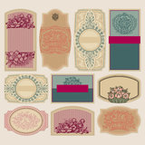 Vintage blank labels set (vector) Royalty Free Stock Images