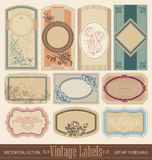 Vintage blank labels set (vector) Royalty Free Stock Photos