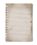 Vintage blank note paper Stock Photography