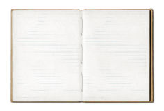 Vintage Blank Open Notebook Stock Image