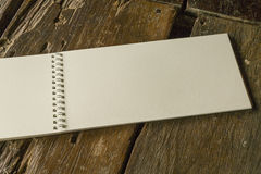 Vintage blank open notebook Royalty Free Stock Photo