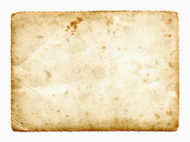 Vintage blank paper card Stock Photos