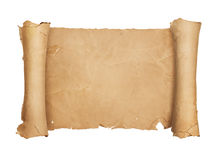 Vintage blank paper scroll Royalty Free Stock Photos