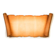 Vintage blank paper scroll  on white Stock Image