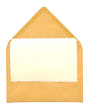 Vintage blank photo frame on envelope Stock Photo