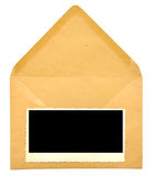 Vintage blank photo frame on  envelope Royalty Free Stock Photography