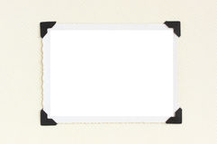 Vintage blank photo frame Stock Photography