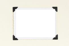 Vintage blank photo frame Stock Photography